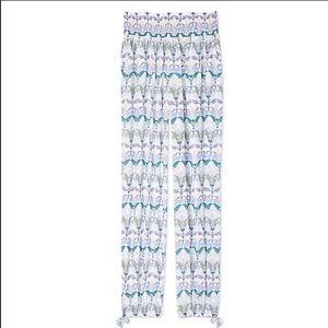 Tory Burch mosaic print beach pants.